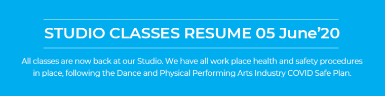 All classes have resumed at the studio 05 June '20